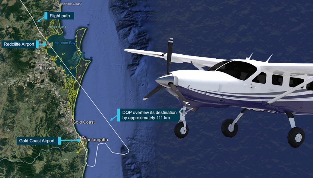 Dochodzenie ATSB wykazało, że australijski pilot spał w punktach kontrolnych przez 40 minut